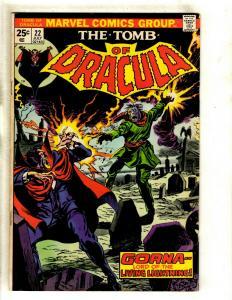 Lot Of 6 Tomb Of Dracula Marvel Comic Books # 22 23 24 25 26 27 VF Range RS1