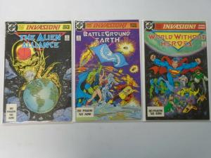 DC Invasion set #1-3 (1988) 8.0/VF