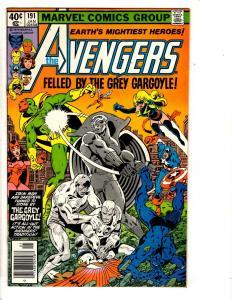 Lot Of 5 Avengers Marvel Comic Books # 191 194 201 202 203 Hulk Thor Vision SS3
