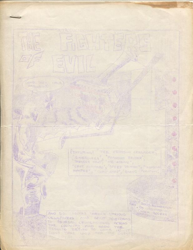 Fighters of Evil #1-amateur superhero fanzine-small print run-VG