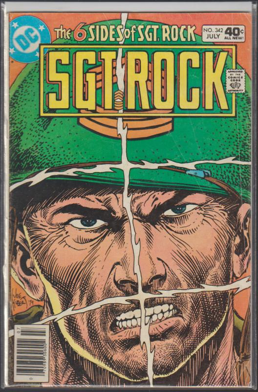 THE 6 SIDES OF  SGT. ROCK #342 DC WAR COMIC - 1980