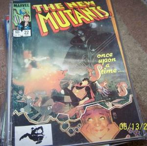 NEW MUTANTS  # 22 1984 marvel   X MEN   fairytale story rahne