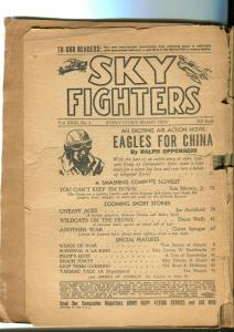 SKY FIGHTERS FALL 1944-AIR WAR PULP-THRILLS-WWII-COVERLESS-fr