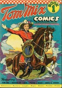 TOM MIX COMICS #1-RALSTON STRAIGHT SHOOTERS-COWBOY VG