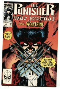 Punisher War Journal #6 1988  Wolverine cover comic book MARVEL NM-