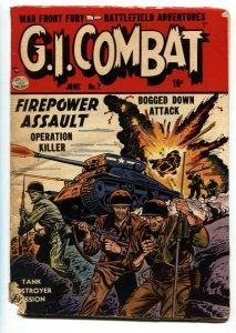 GI Combat #7 1953--EXPLOSION COVER-KOREAN WAR-fr