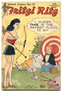 United Comics #12 1950- Fritzi Ritz -Ernie Bushmiller VG