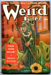 Weird Tales Pulp January 1949- John D MacDonald- Allison Harding FN