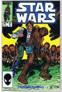 STAR WARS #91, FN+, Luke Skywalker, Darth Vader, 1977 1985, more SW in store
