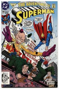 ADVENTURES OF SUPERMAN #496-DOOMSDAY CAMEO-DC-HTF-2ND PRINTING