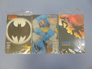 Three Frank Miller Batman 1st Print Graphic Novels Comic Books #2 #3 & #4 MINT