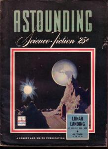 ASTOUNDING STORIES 1943 OCT L RON HUBBARD VAN VOGT FN