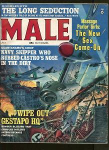 MALE MAGAZINE JULY 1964- CASTRO-WWII- FN/VF