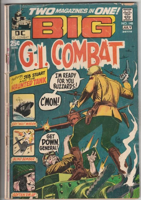 G.I. Combat #148 (Jul-71) VG Affordable-Grade The Haunted Tank