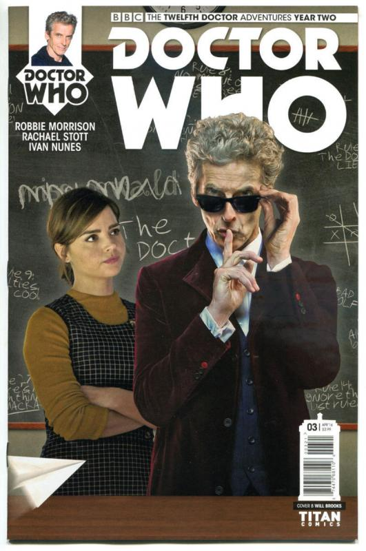 DOCTOR WHO #3 B, NM, 12th, Tardis, 2016, Titan, 1st, more DW in store, Sci-fi