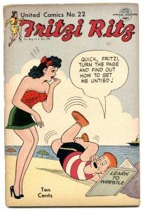 United Comics #22 1952- Fritzi Ritz - 2nd PEANUTS issue G-