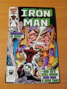 Iron Man #205 ~ NEAR MINT NM ~ 1986 MARVEL COMICS