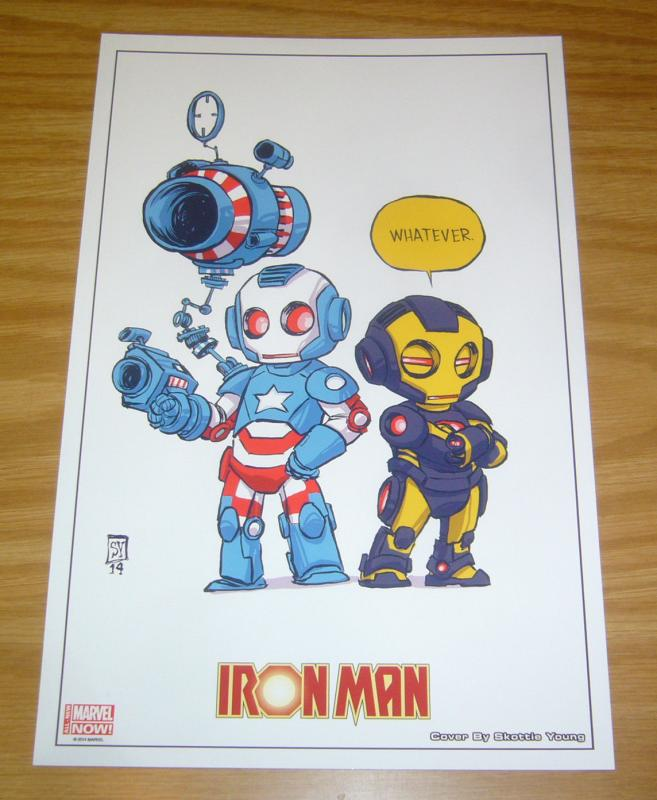 Iron Man print by Skottie Young - marvel comics 2014 iron patriot