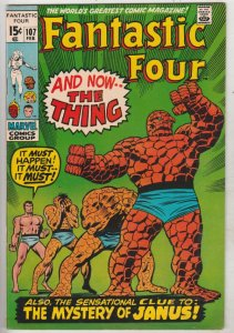 Fantastic Four #107 (Feb-71) VF+ High-Grade Fantastic Four, Mr. Fantastic (Re...