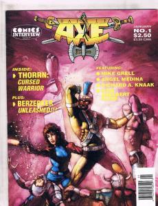 Comics Interview Group Battle Axe # 1 Comic Book Magazine Thorrn Berzerker J141