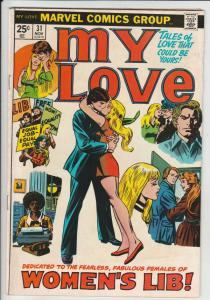 My Love #31 (Nov-74) FN/VF+ Mid-High-Grade