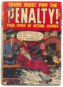 Crime Must Pay The Penalty #28 1952- Golden Age Ace Crime FR/G