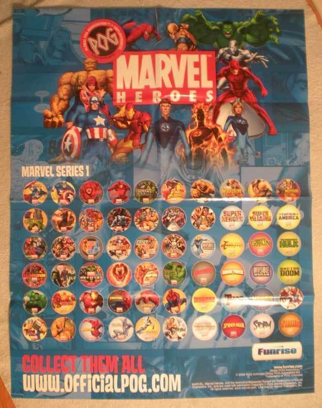 MARVEL HEROES (POG) Promo Poster, 24x30, 2006, Unused, more in our store