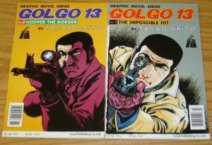 Golgo 13 #1-2 FN complete series based on video game - manga set 1989 LEAD