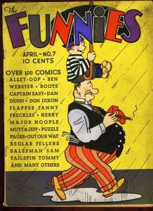 FUNNIES #7-1937-RARE-ALLEY-OOP-CAPTAIN EASY-DAN DUNN- VG
