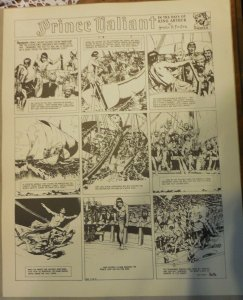 Prince Valiant by Hal Foster Syndicate Proof 5/18/1941  Size 16 x 20 inches
