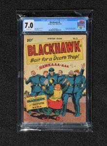Blackhawk Comics #9 (Quality Comics, 1944) CGC 7.0