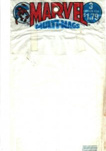 Marvel Multi-Mags - BAG ONLY - Spider-man Logo - 3 Comics for $1.79 - 1983