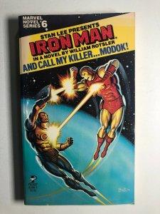Marvel Novel #6 IRON MAN And Call My Killer...MODOK! paperback 1979