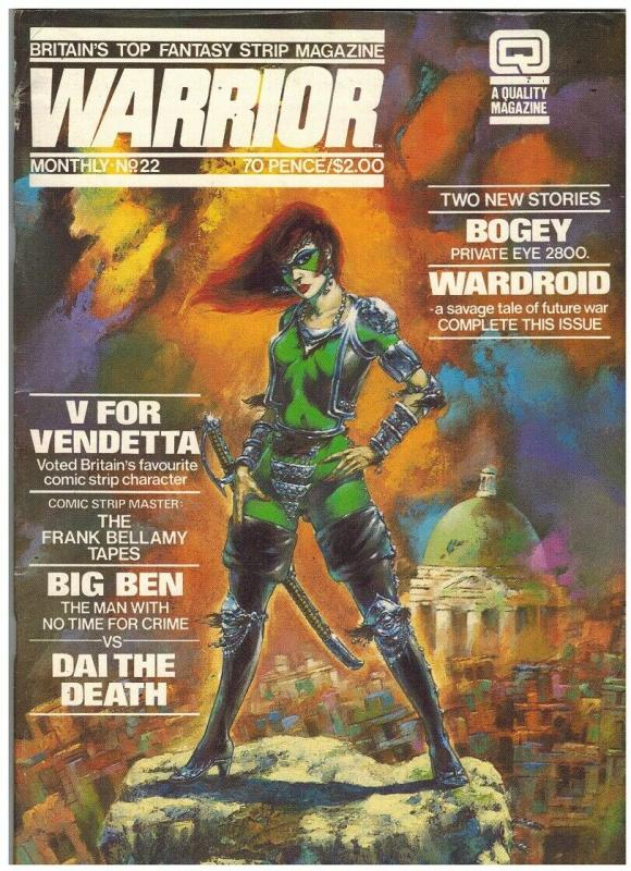 WARRIOR (1982 QUALITY) 22 VG Sept. 1984 ALAN MOORE+++++