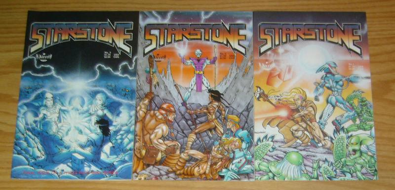 Starstone #1-3 VF/NM complete series - aircel comics - gordon derry set lot 2