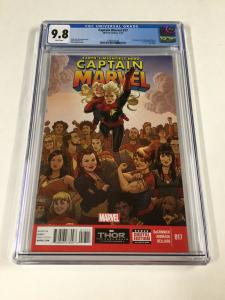 Captain Marvel 17 CGC 9.8 White Pages (2014) - 2nd Kamala Khan