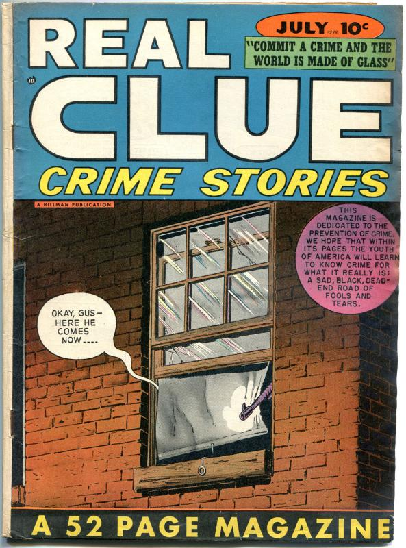 REAL CLUE CRIME STORIES V3 #5, VG/VG+, 1947, Golden Age, Pre-code, more in store