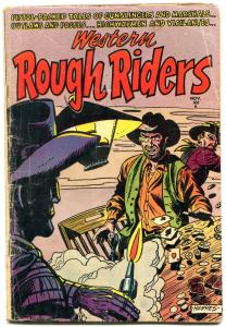 WESTERN ROUGH RIDERS #1 1954- POKER COVER ACE OF SPADES G/VG