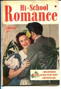 Hi-School Romance #1 1949-Harvey-1st issue-Bob Powell art-Lighthouse Girl-VG+