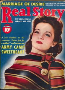 Real Story #1 11/1941-1st issue-Army Camp Sweetheart-spicy exploitation-VG