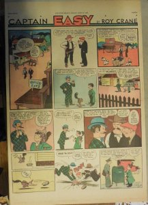 Captain Easy Sunday Page by Roy Crane from 4/30/1939 Rare Full Page Size !