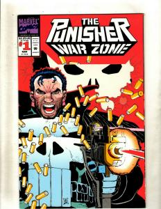 Lot of 12 The Punisher War Zone Comic Books  #1 3 4 7 8 9 11 12 13 14 18 19 HY7