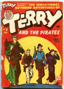 TERRY AND THE PIRATES #7 MILTON CANIFF 1947 BLACK CAT FR