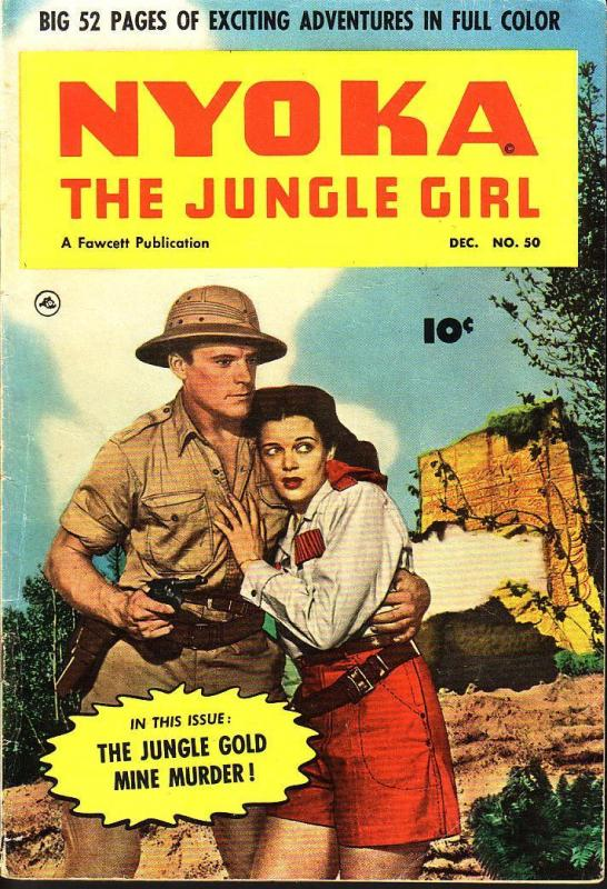 NYOKA JUNGLE GIRL #50 MOVIE PHOTO COVER  1950 FAWCETT FN