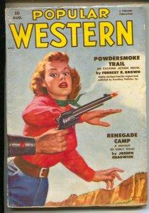 Popular Western 8/1953-Thrilling-Buffalo Bill-girl art cover-pulp thrills-Jos...