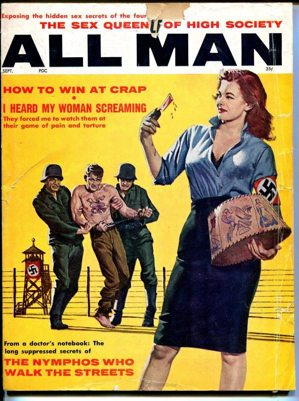 9f33c972078d7 All Man 9/1961-Stanley Pubs-Nazi cover-pin-up pix-Syd Shores-pulp  thrills-FR / HipComic