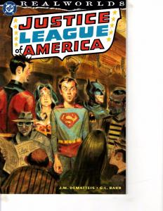 Lot Of 2 DC Comic Books Justice League America Real Worlds and Quarterly #1 MS20