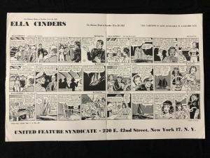 Ella Cinders Newspaper Comic Dailies Proof Sheet 10/15/51