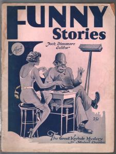 Funny Stories 4/1929-spicy pulp stories & art-very rare-Great Keyhole Mystery-VG