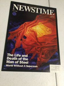 Newstime The Life And Death Of The Man Of Steel World Without Superman DC Comics